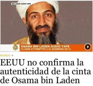 Nueva cinta de Bin Laden