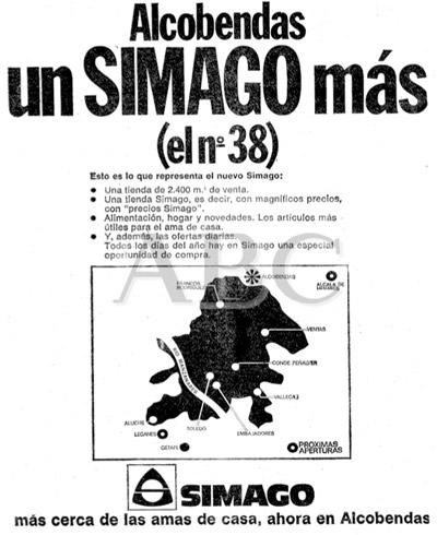 Anuncio de Simago en ABC (1974)